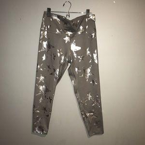 AERIE silver star leggings
